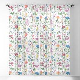 Hungarian folk art pattern Sheer Curtain