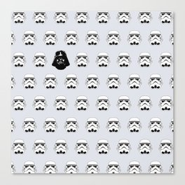 Troopers and Vader Canvas Print