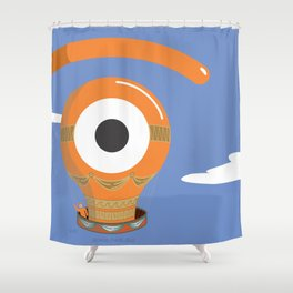 eye balloon Shower Curtain