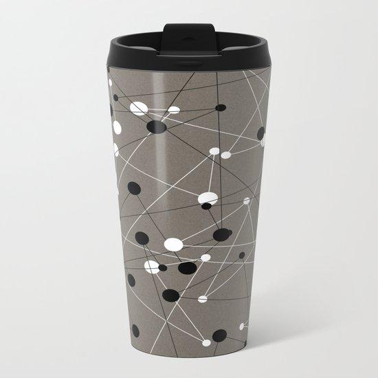 Molecular Pattern Metal Travel Mug