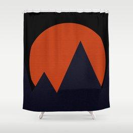 Bold Mountainscape Shower Curtain