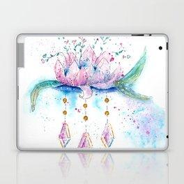 Be Zen Lotus Flower Watercolor Laptop & iPad Skin