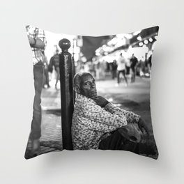 Alone in a Crowded Place Throw Pillow
