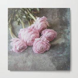 A Bunch Of Lovely Ranunculus Metal Print