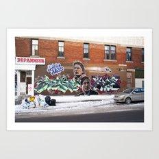 McFly Street Art Art Print