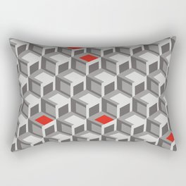 Cubes N' Red Rectangular Pillow