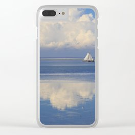 Sky And Sea With Sailboats In Holland Clear iPhone Case