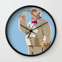 Agatha Christie's Hercule Poirot Wall Clock