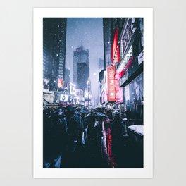 NYC Neon Winter Art Print