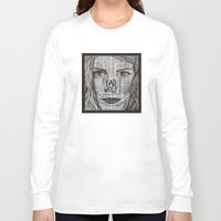 bad wolf Long Sleeve T-shirts featuring Bad Wolf  by Chrissie Brown Art