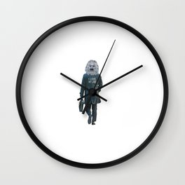 Funny Ironic Work Concept Artwork Wall Clock