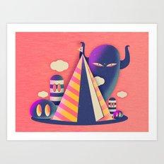 Temple Haze Art Print