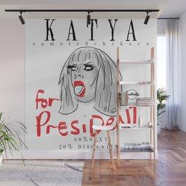Katya Zamolodchikova For President! Wall Mural