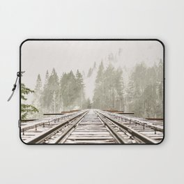 Railway in the forest Laptop Sleeve