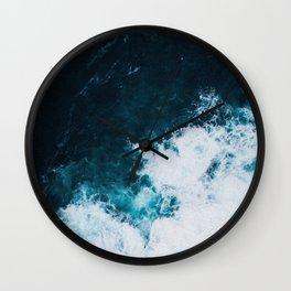 Wild ocean waves II Wall Clock
