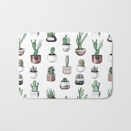 Cactus + Succulents Rose Gold Pattern by Nature Magick Bath Mat
