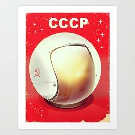 CCCP Soviet Space poster Art Print