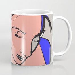 Pink Drawing Sketch Rose Women Digital Art Coffee Mug