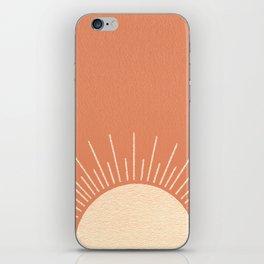 Sunrise pink iPhone Skin