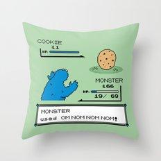 Cookiemon Throw Pillow
