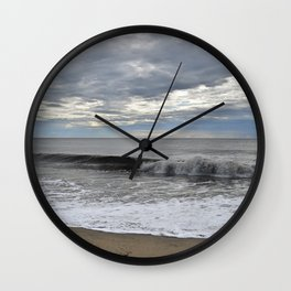 Blues and whites Wall Clock