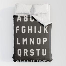 Typography Alphabet #3 Comforters