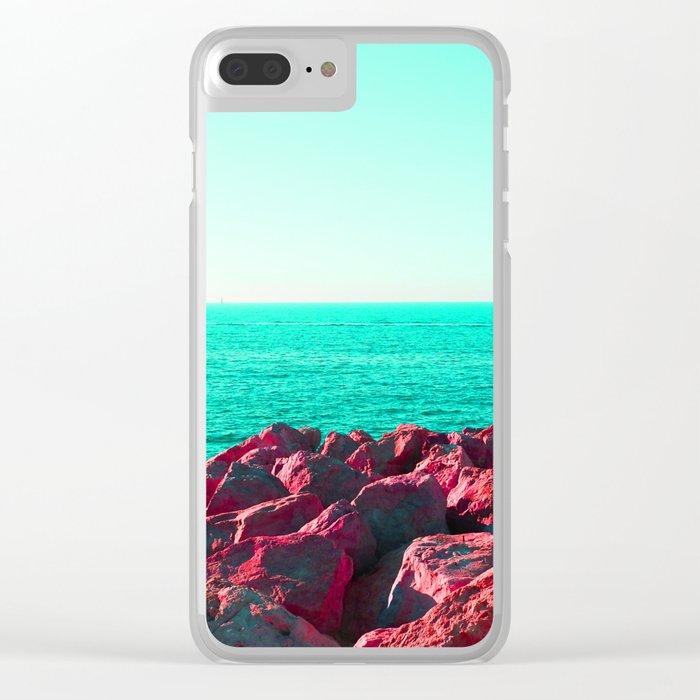 HueSaturationSea Clear iPhone Case