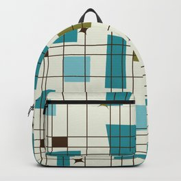 Mid-Century Modern (teal) Backpack