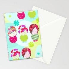Dolls Pattern Stationery Cards
