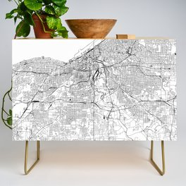Cleveland White Map Credenza