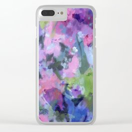 Lavender Blue Clear iPhone Case