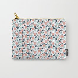 Geometric Trailing Floral Carry-All Pouch