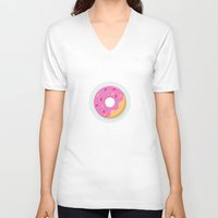 donut V-neck T-shirts featuring Donut by Marko Stupic