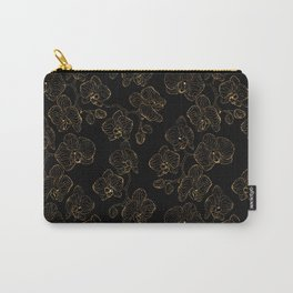 Flowers orchids ornament gold Carry-All Pouch