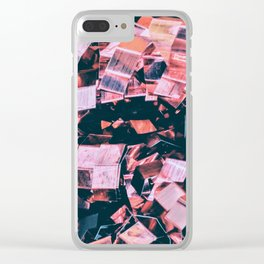 Pink Mirror Shards Clear iPhone Case