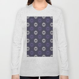 Abstract ultra violet scribble circle seamless pattern Long Sleeve T-shirt