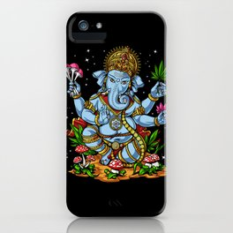 Ganesha Hindu Psychedelic Elephant God iPhone Case