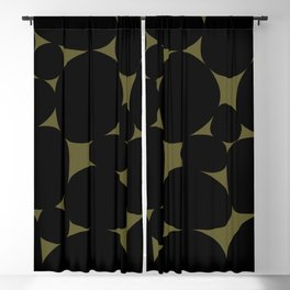 Stone Abstract - Earth Green Blackout Curtain
