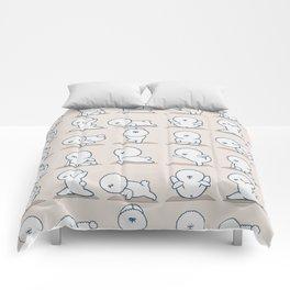 Bichon Frise Yoga Comforters