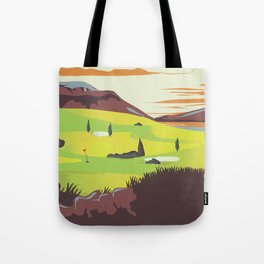 'For Golf' Northern Ireland Travel poster Tote Bag