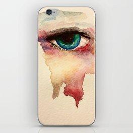 Eye in watercolor iPhone Skin