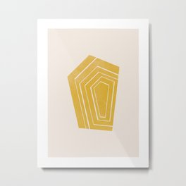 Geode II - in Citrine Metal Print