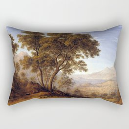 John Glover My last view of Italy, looking from the alps over Suza Rectangular Pillow