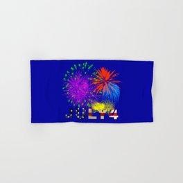 America 4th of July Fireworks Hand & Bath Towel