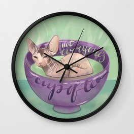 Not Everyone's Cup Of Tea - Sphynx Cat - Part 4 Wall Clock