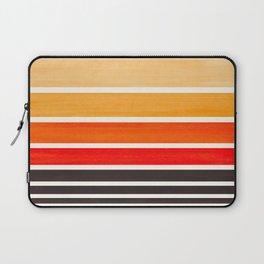 Orange Minimalist Watercolor Mid Century Staggered Stripes Rothko Color Block Geometric Art Laptop Sleeve