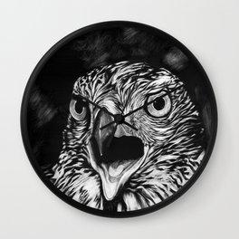 Fierce Falcon Wall Clock