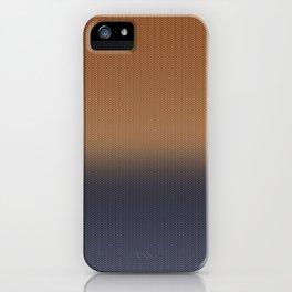 Ombre Blue and Rust Herringbone Pattern iPhone Case