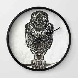 Listen To The Owl Wall Clock