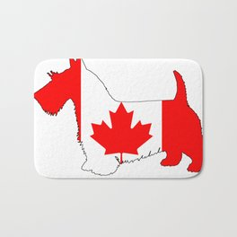 "Scottish Terrier ""Canada"" Bath Mat"